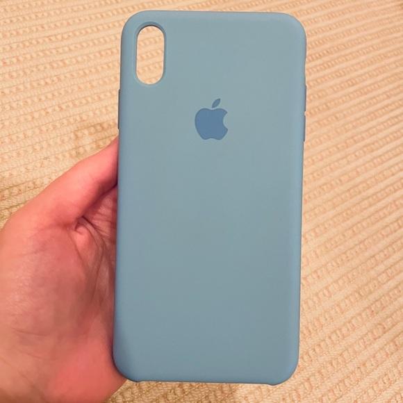 Apple iPhone XS Max Silicone Case in Cornflower
